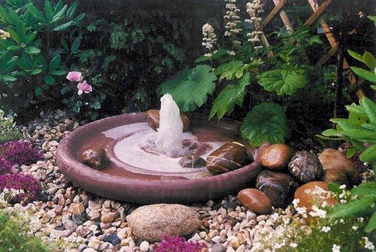 Waterornament fonteinschaal
