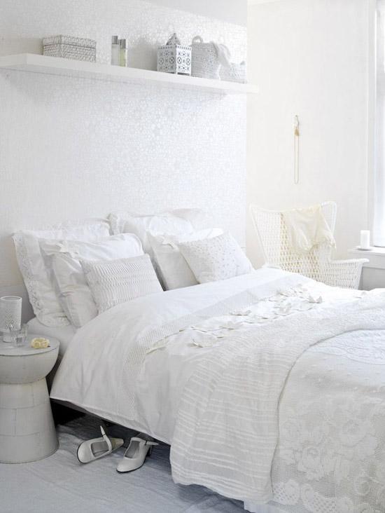 witte slaapkamer  wooninspiratie, Meubels Ideeën