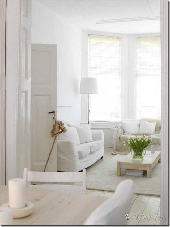 Witte woonkamer wooninspiratie - Pintura blanco roto ...