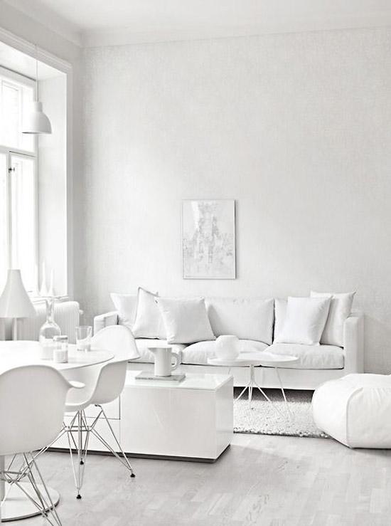 witte woonkamer  wooninspiratie, Meubels Ideeën