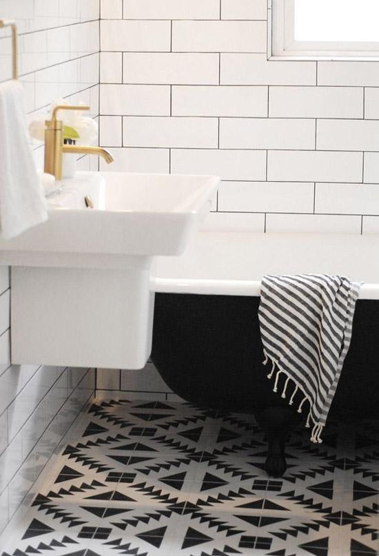 Zwart witte badkamer | Wooninspiratie