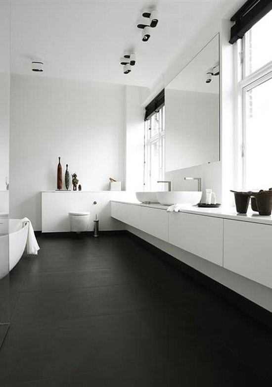 Bathroom Design White And Black : Zwart witte badkamer wooninspiratie