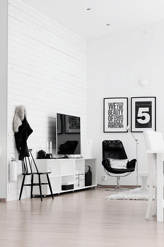 zwart witte interieur