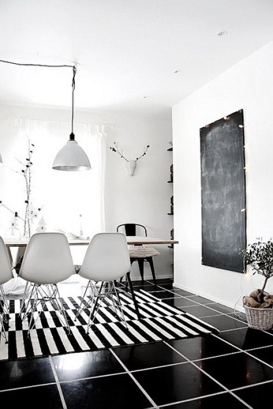 Ongekend Zwart witte interieur – Wooninspiratie TT-37