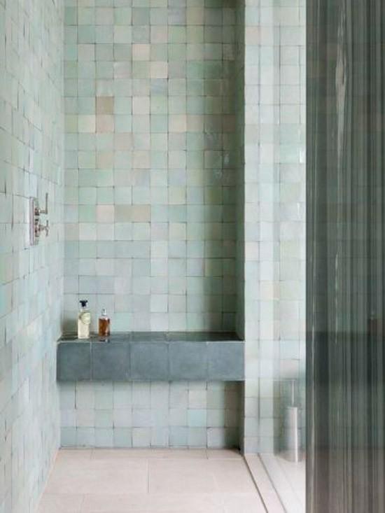 Badkamer wooninspiratie - Tegel patroon badkamer ...