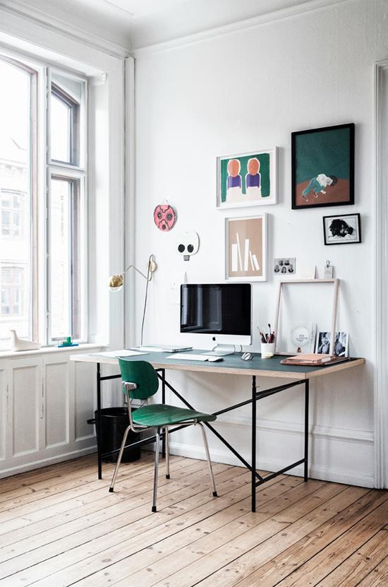Appartement van een grafisch designer