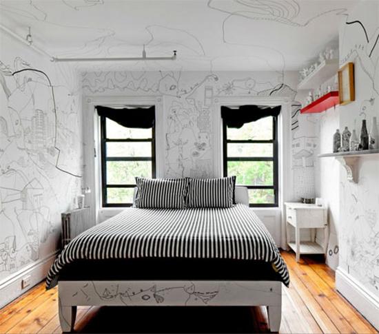Artistieke huisinrichting vol met illustraties   Wooninspiratie