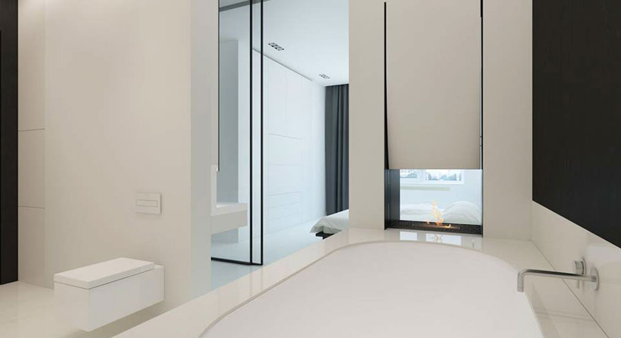 minimalitische badkamer ensuite