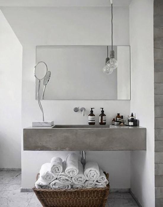 Badkamer met betonlook  Wooninspiratie