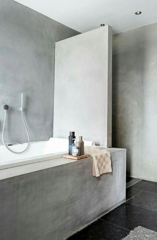 Badkamer met betonlook | Wooninspiratie