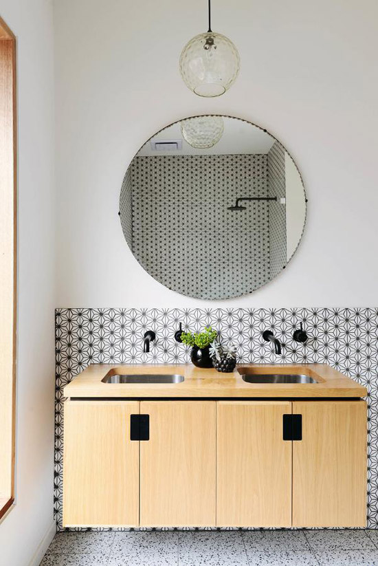 Badkamer met leuke tegels
