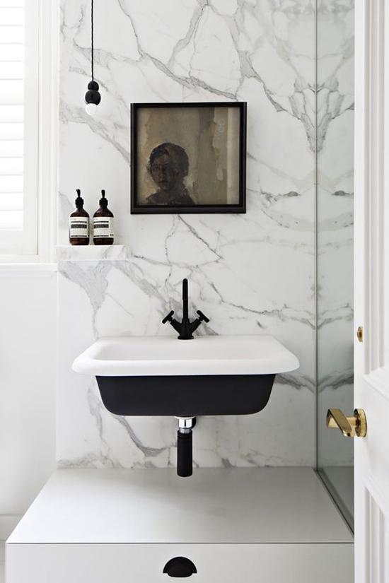 Badkamer Marmer Tegels.Badkamer Met Marmeren Invloeden Wooninspiratie