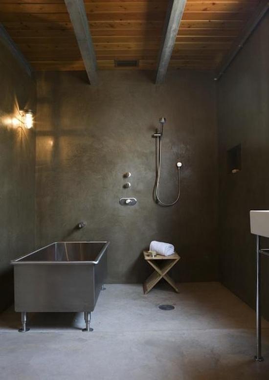 Industri le badkamer wooninspiratie for Salle de bain en tadelakt