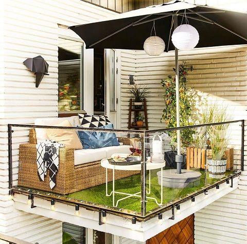 balkon kunstgras