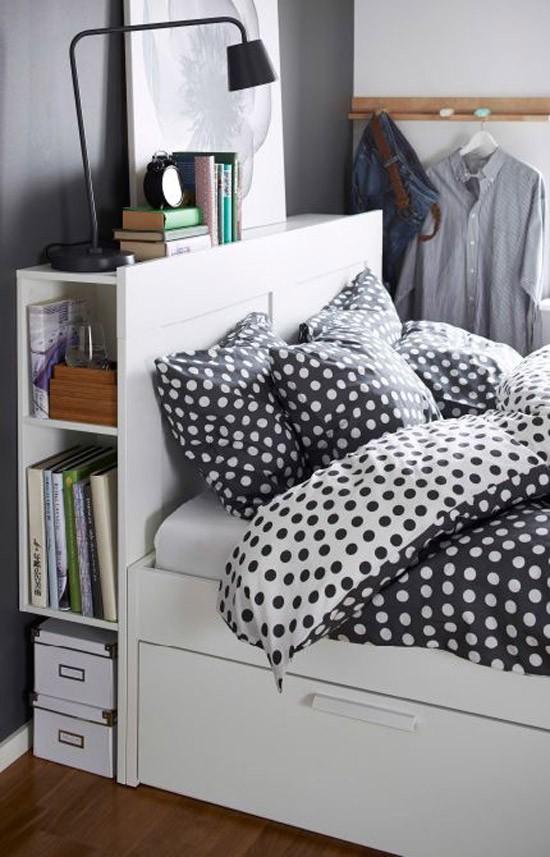 bed met opbergruimte wooninspiratie. Black Bedroom Furniture Sets. Home Design Ideas