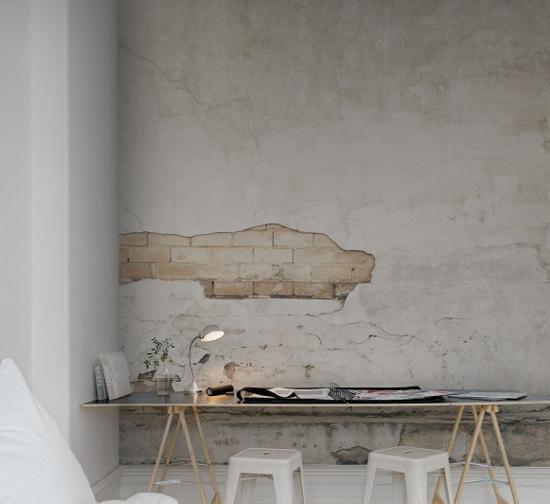 Behang van rebel walls wooninspiratie - Behang effect van materie ...