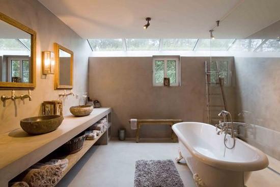 Beton stuc in de badkamer | Wooninspiratie