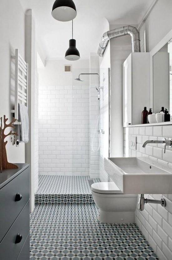 Bijzondere patroontegels in de badkamer