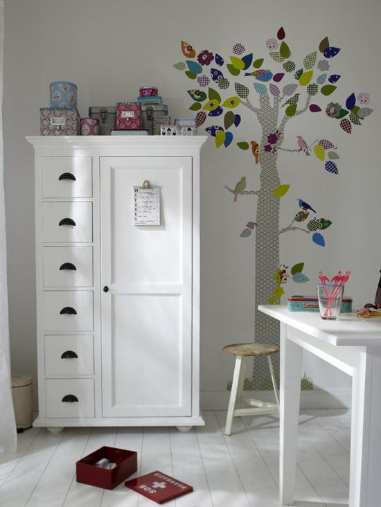 boom muursticker voor kinderkamer wooninspiratie. Black Bedroom Furniture Sets. Home Design Ideas