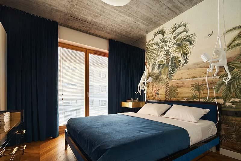 chic klassiek interieur slaapkamer behang