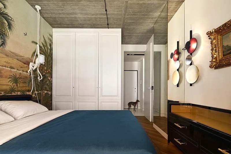 chic klassiek interieur slaapkamer kledingkast