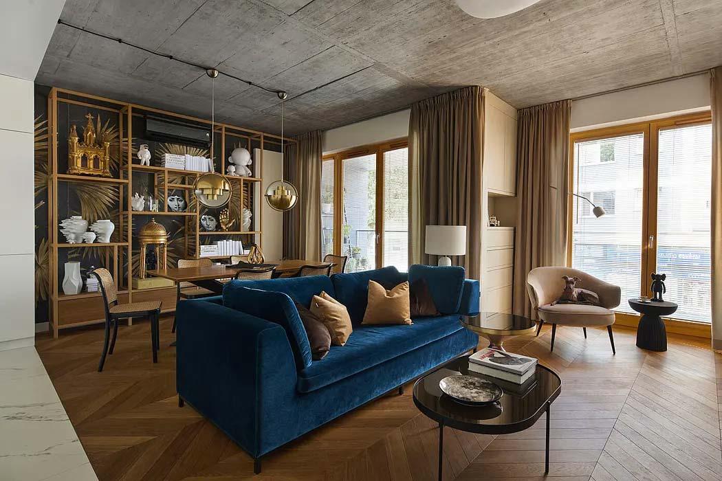 chic klassiek interieur visgraat houten vloer