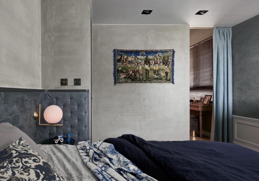 Chique slaapkamer met betonstuc muren | Wooninspiratie