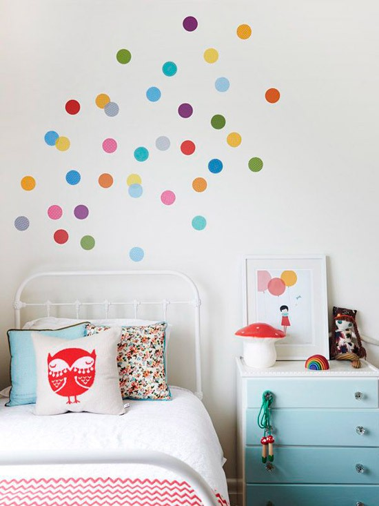 Confetti muur in de kinderkamer