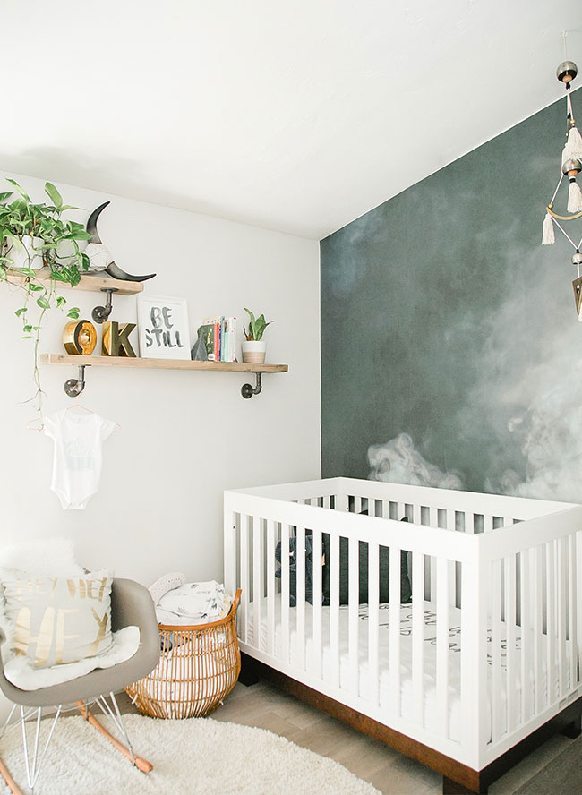 De stoere babykamer van Asher