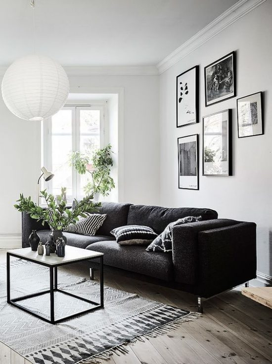 Design salontafels wooninspiratie - Red black and white themed living room ...