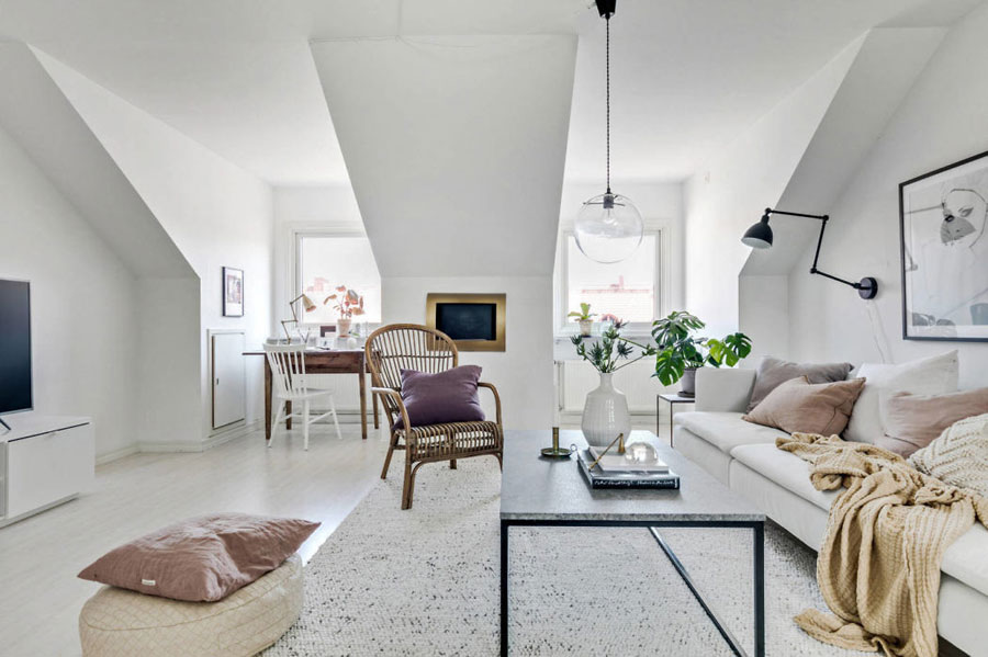 Woonkamer Op Zolder : Deze zolder woonkamer is erg leuk en stijlvol ingericht