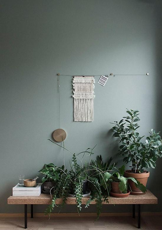 donker groene muur | wooninspiratie, Deco ideeën