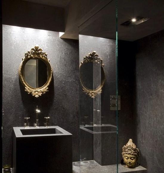 donkere badkamer | wooninspiratie, Badkamer