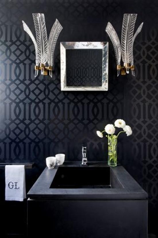 Donkere badkamer inrichting