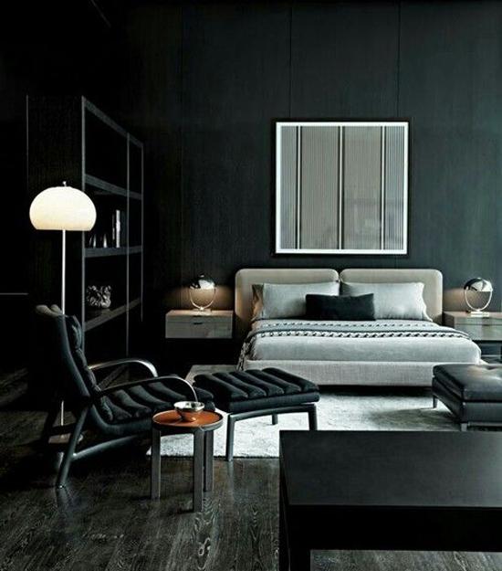 Interieur & kleur  Donkere kleuren in de slaapkamer • Stijlvol ...