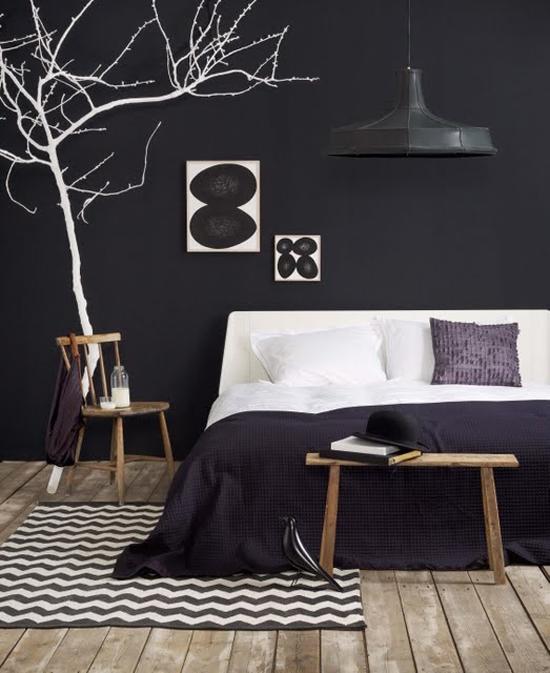 donkere slaapkamer | wooninspiratie, Deco ideeën