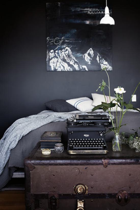 donkere slaapkamer   wooninspiratie, Deco ideeën
