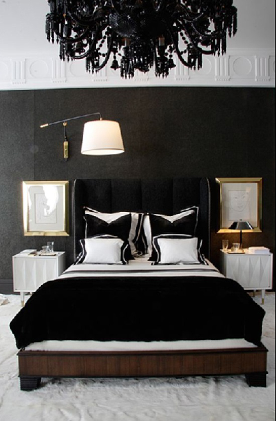 donkere slaapkamer wooninspiratie