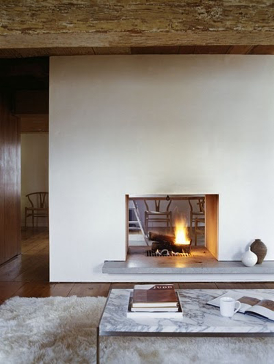 Doorkijkhaard wooninspiratie Fireplace ideas no fire