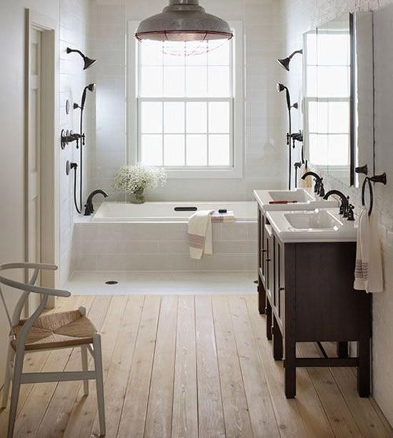 Dubbele douche in de badkamer | Wooninspiratie