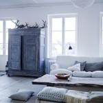 Inrichting van een dubbele woonkamer