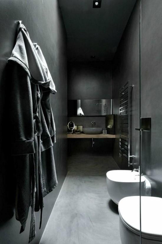 Een donkere badkamer | Wooninspiratie