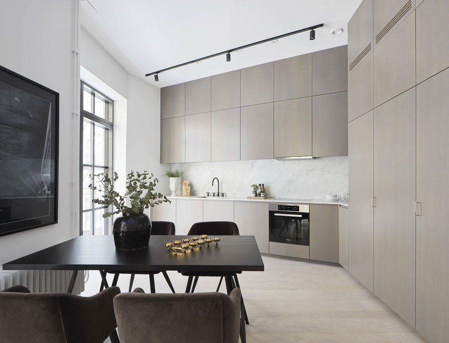 Een grootse keuken in een klein appartement!