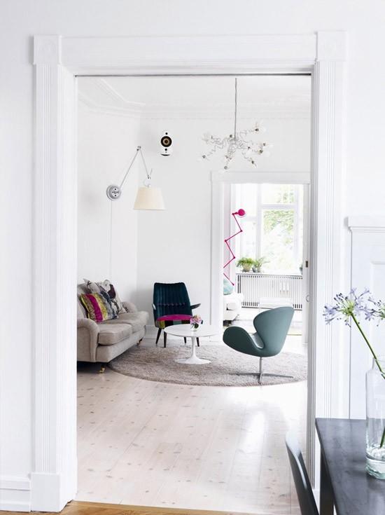 Een klein leuk tussenkamer wooninspiratie - Een kleine rechthoekige woonkamer geven ...