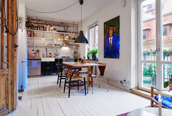 Een klein zweeds appartement wooninspiratie for Inrichting kleine woning