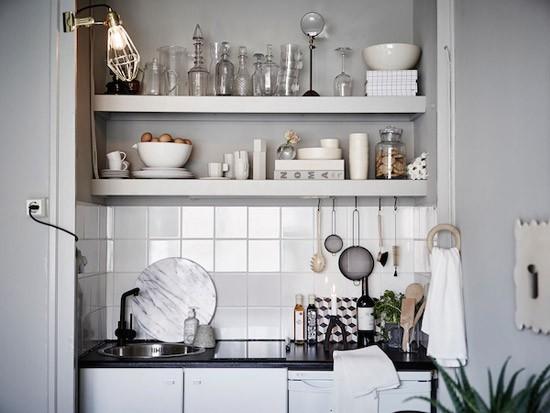 Een kleine studio met mini keuken wooninspiratie - Meubels studio keuken ...