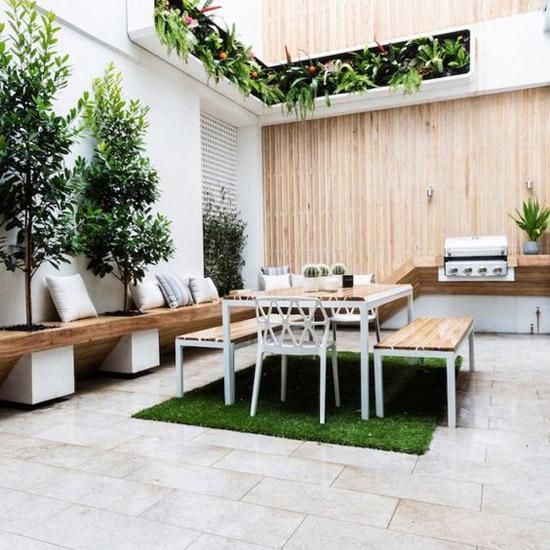een kleine tuin gezellig maken wooninspiratie