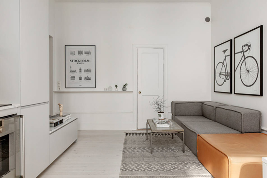 een kleine woonkamer en keuken in één  wooninspiratie, Meubels Ideeën