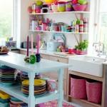Een kleurrijke keuken