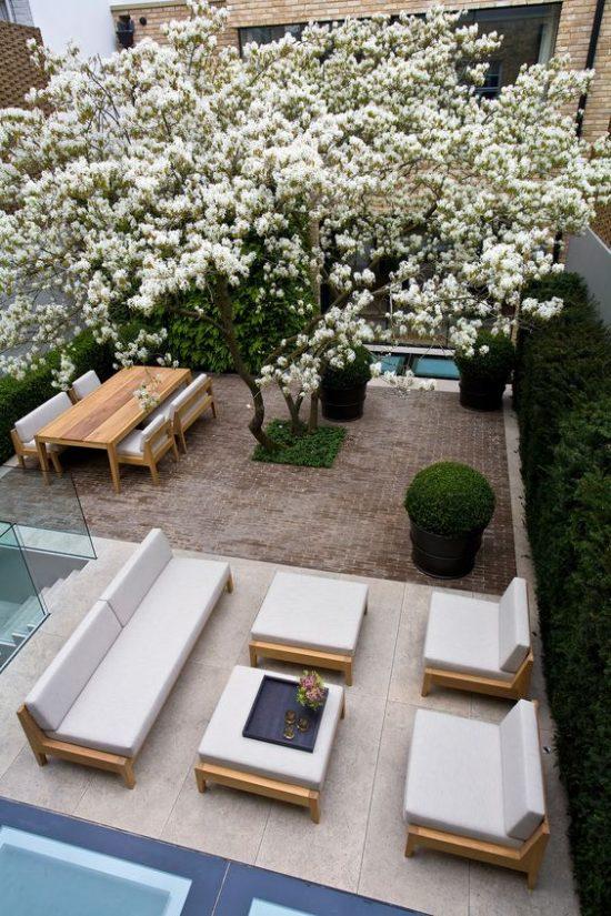 Een moderne tuin